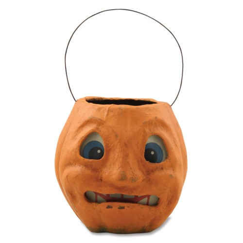 Scary Vintage Pumpkin Bucket Medium
