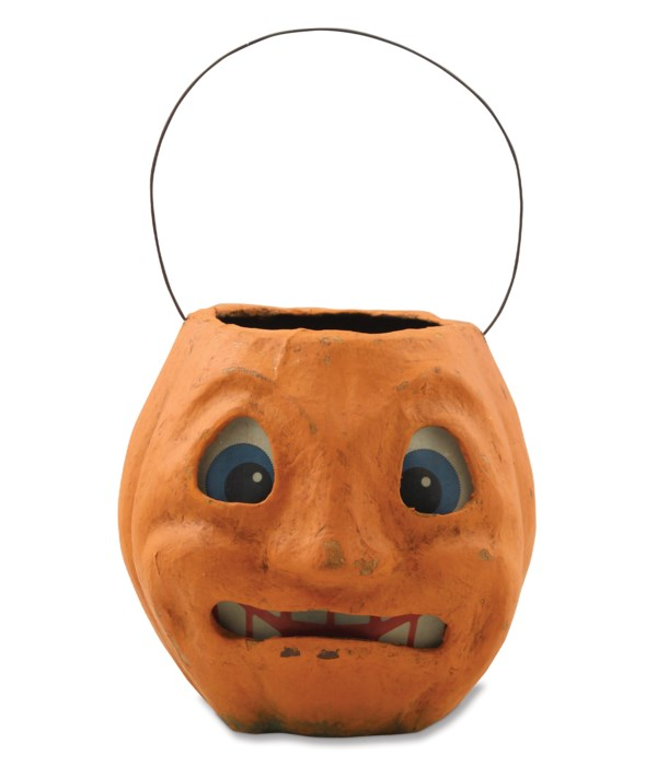 Scary Vintage Pumpkin Bucket Medium
