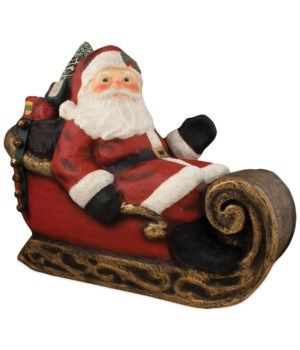 Santa in Sleigh Large Paper Mache