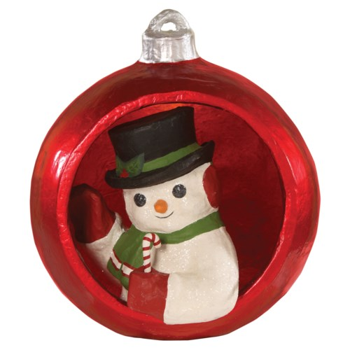 "Ornamental Snowman 10"""