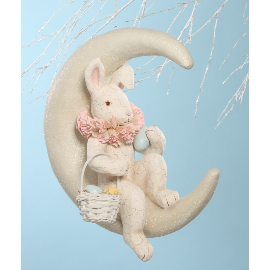 Bunny on Moon White