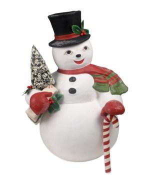 Snowman Sam Large Paper Mache