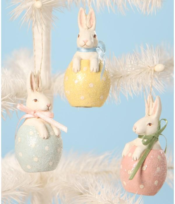 Bunny in Egg Ornament S3