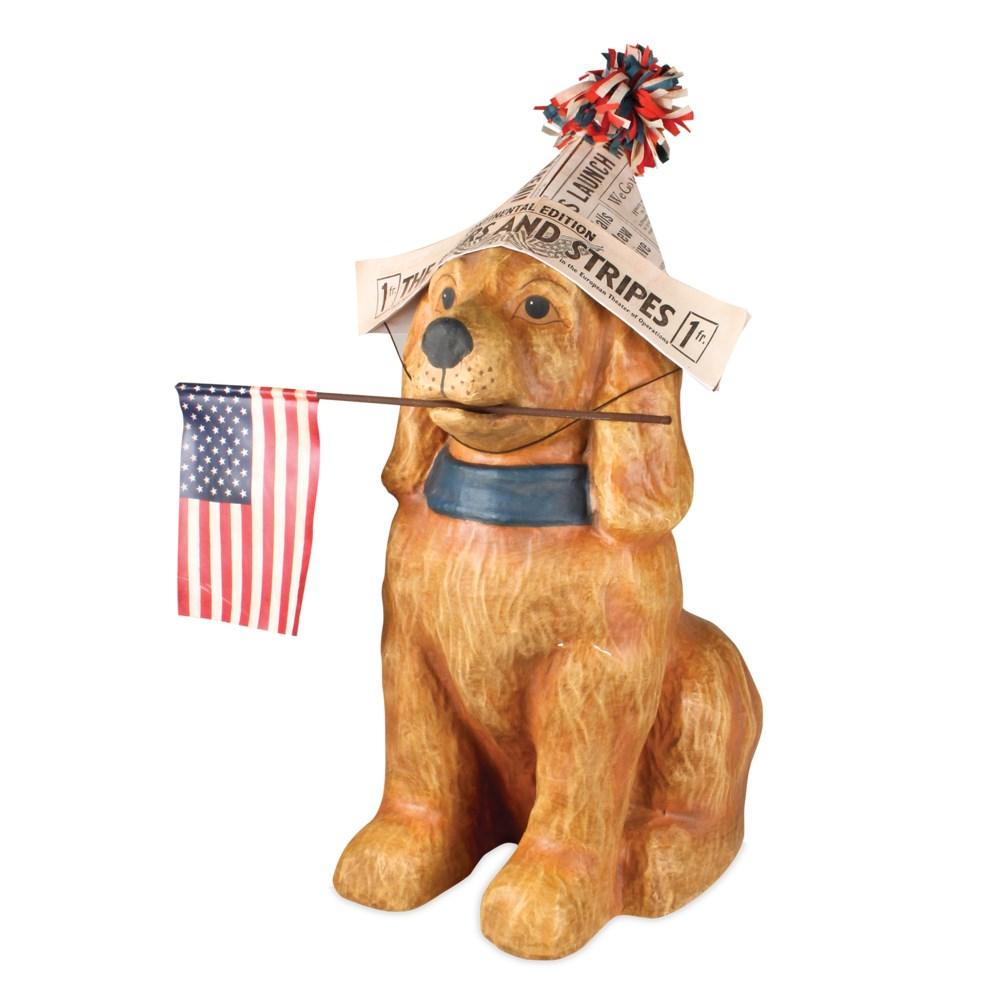 Americana Dog Large Paper Mache