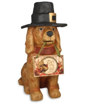 Thanksgiving Dog Large Paper Mache