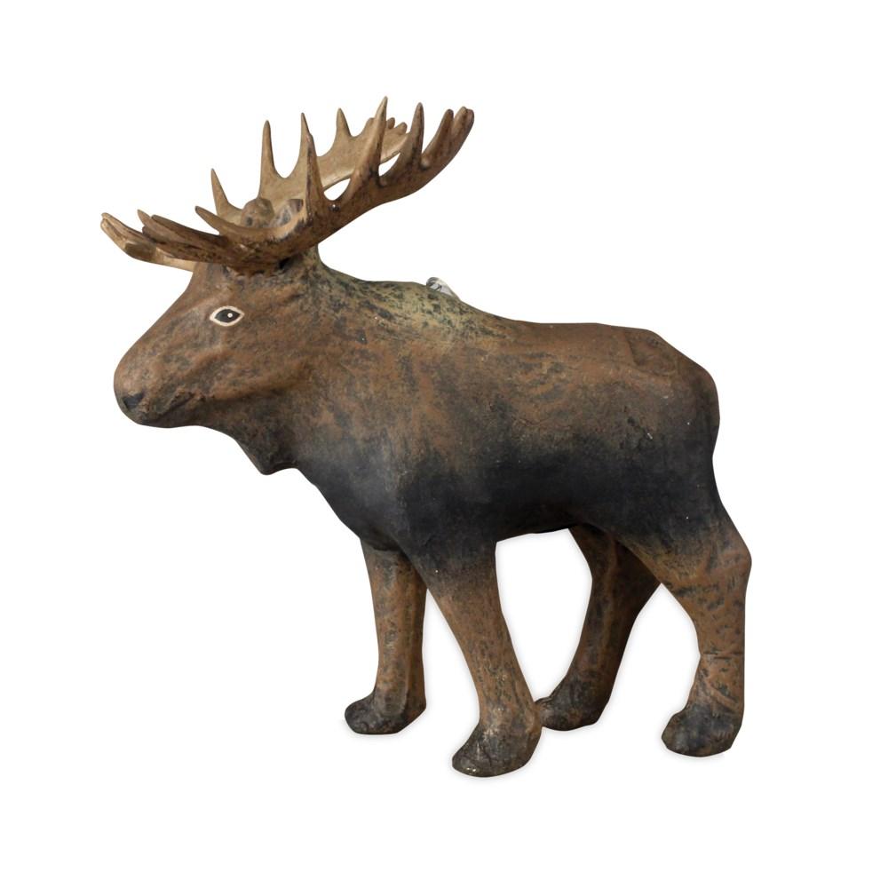 Moose Paper Mache Ornament