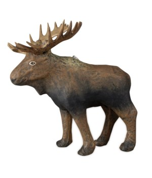 Moose Paper Mache Ornament