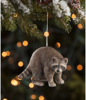 Raccoon Paper Mache Ornament