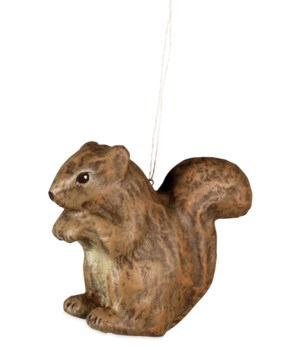 Squirrel Paper Mache Ornament