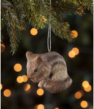 Chipmunk Paper Mache Ornament