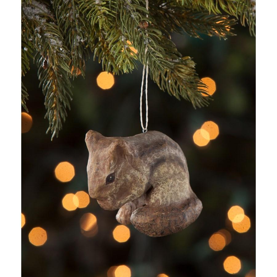 Chipmunk Paper Mache Ornament