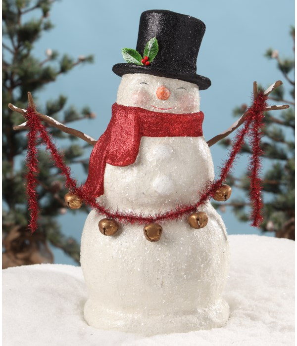 Traditional Large Paper Mache Smiley Snowman