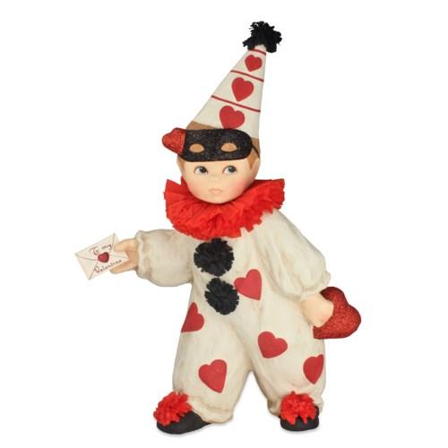 Valentine Clown Boy Large Paper Mache