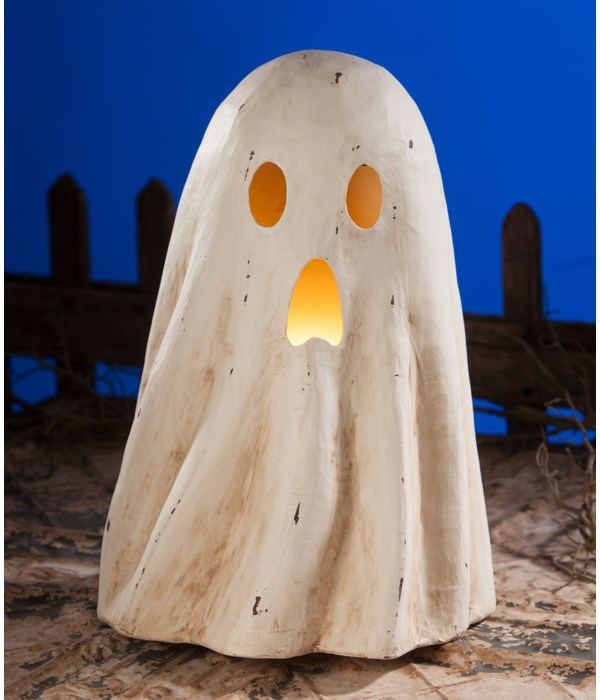 Ghost Luminary Large Paper Mache