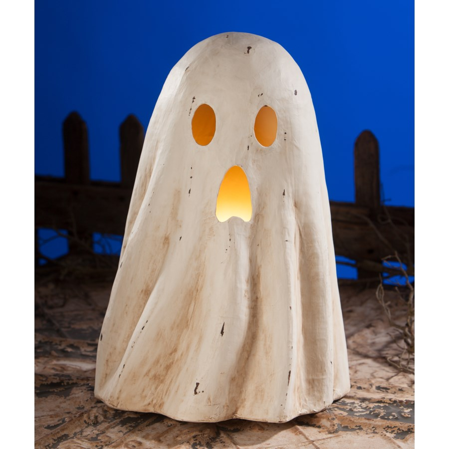 Ghost Luminary Large Paper Mache