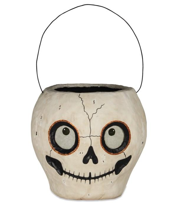 Skull Bucket Paper Mache