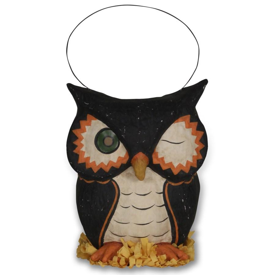 Owl Bucket Paper Mache