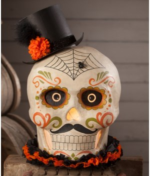 Day of The Dead Skull Large Paper Mache