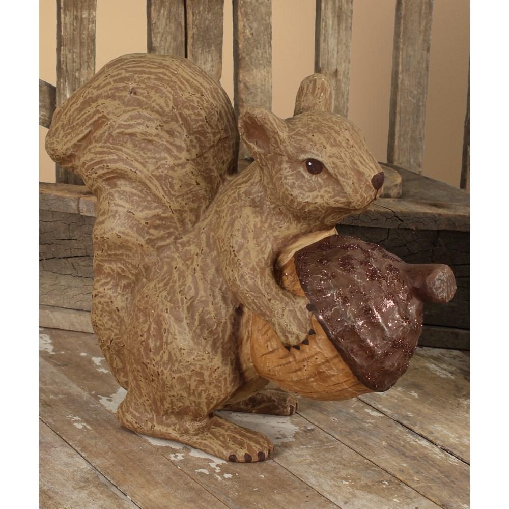 Fall Squirrel Medium Paper Mache