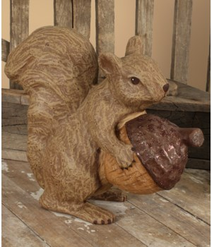 Fall Squirrel Medium Paper Mache