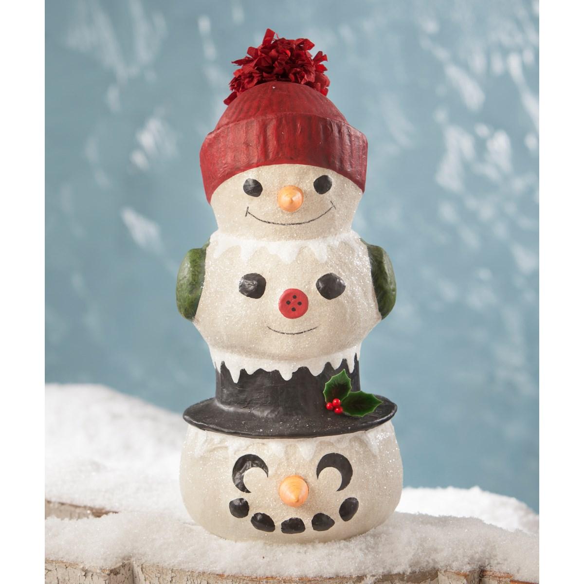 Snowman Topiary Small Paper Mache