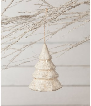 Snowy Christmas Tree Ornament