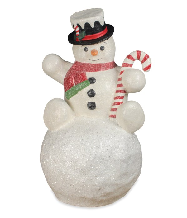 Snowman on Snowball Large Paper Mache