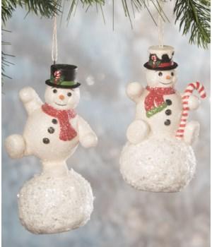 Balancing Snowman Ornament 2A