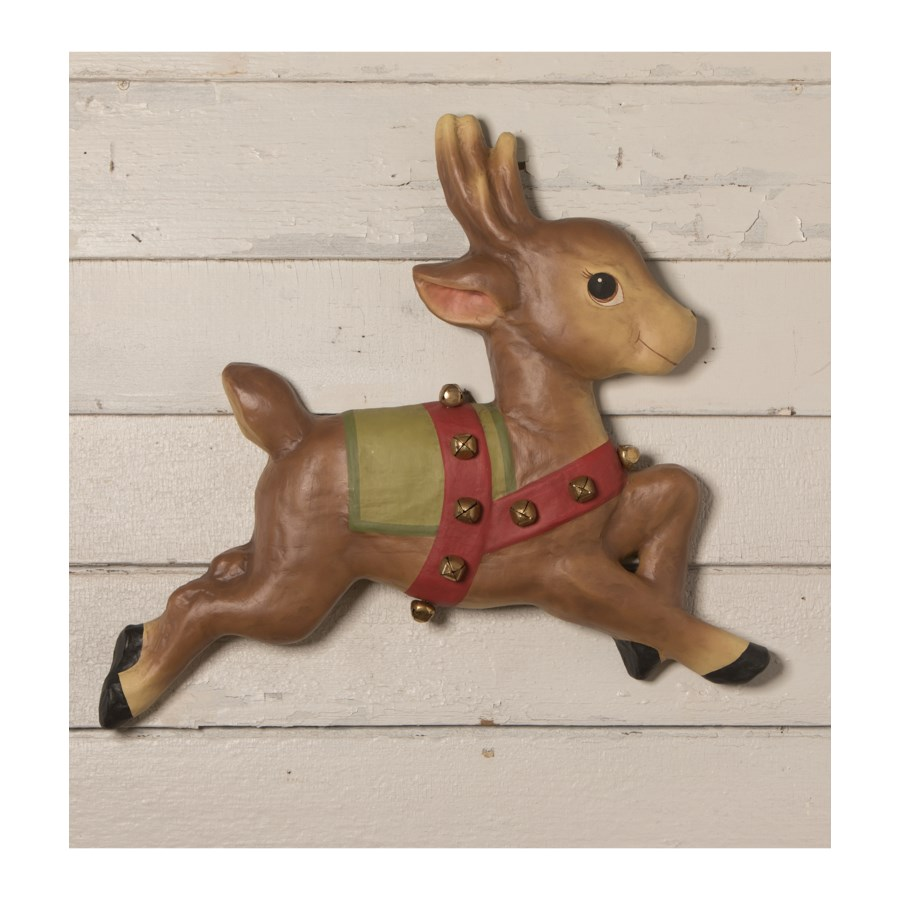 On Prancer! Wall Hanging Large Paper Mache