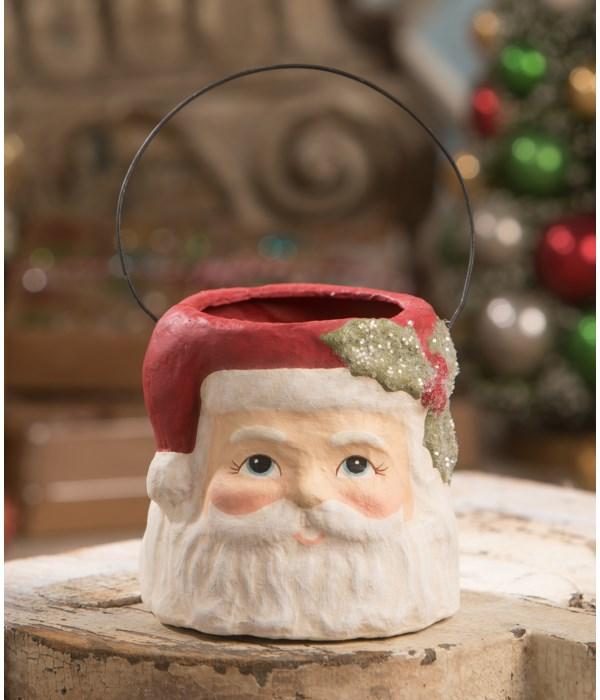Holly Jolly Santa Bucket Small