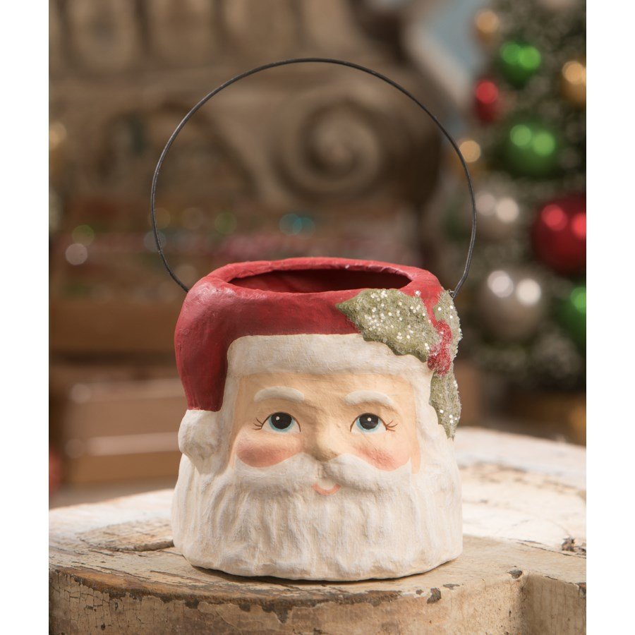 Holly Jolly Santa Bucket Small