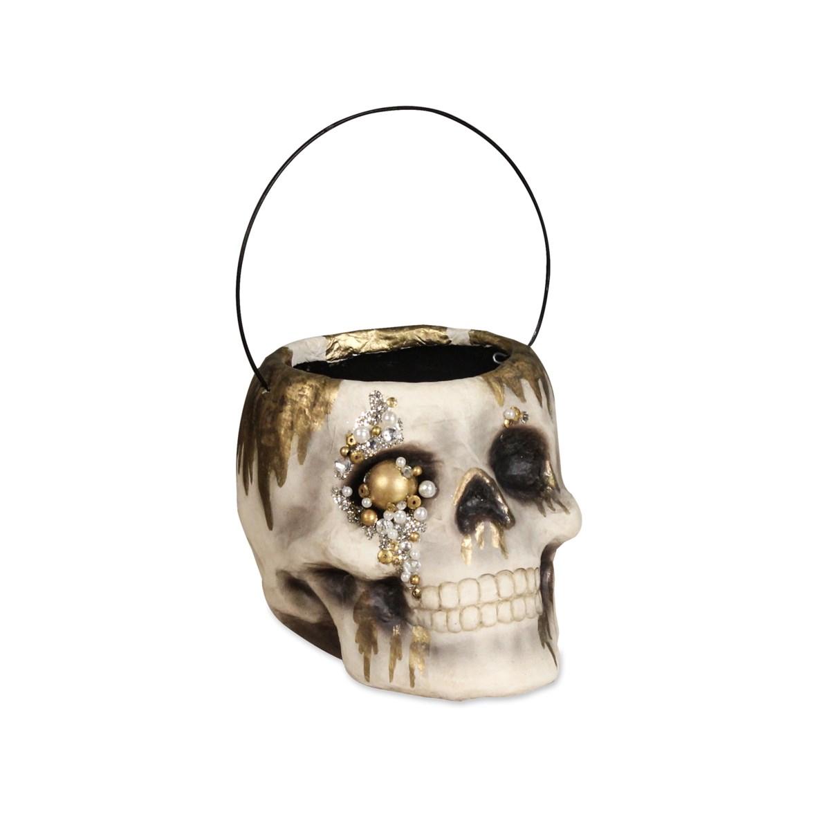 Jeweled Skull Bucket Small