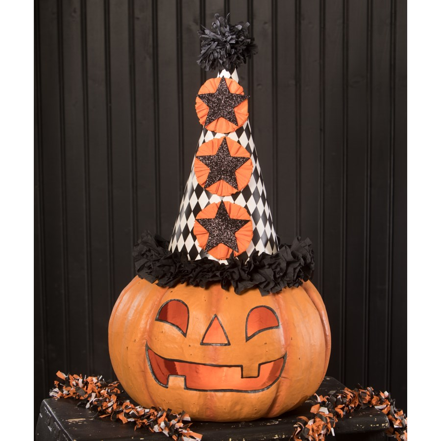 Party Pumpkin Large Paper Mache