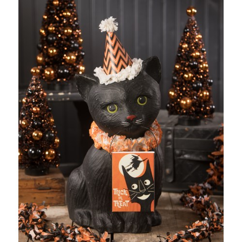 Black Cat Soiree Large Paper Mache