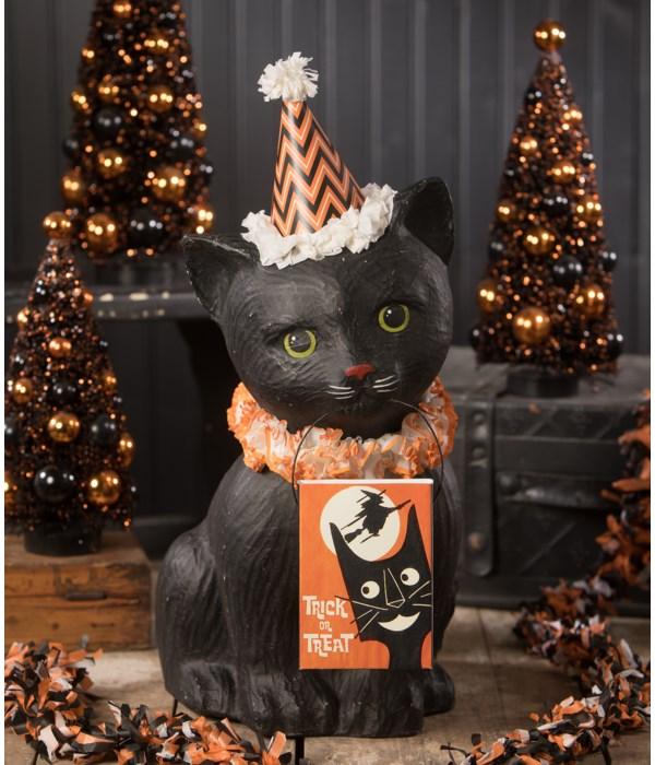 Black Cat Soiree Large Paper Mache