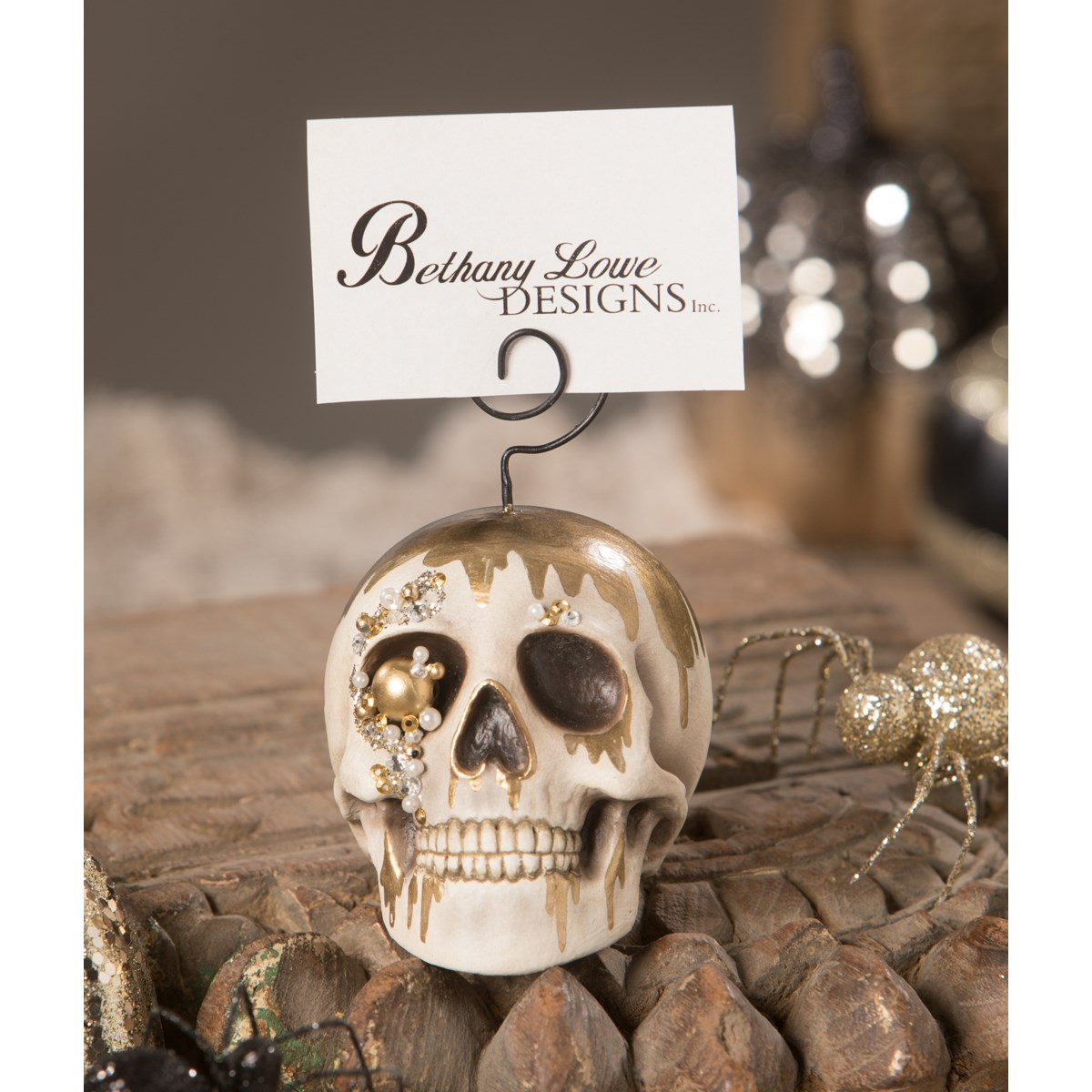 Skull Place Card Holder & Ornament