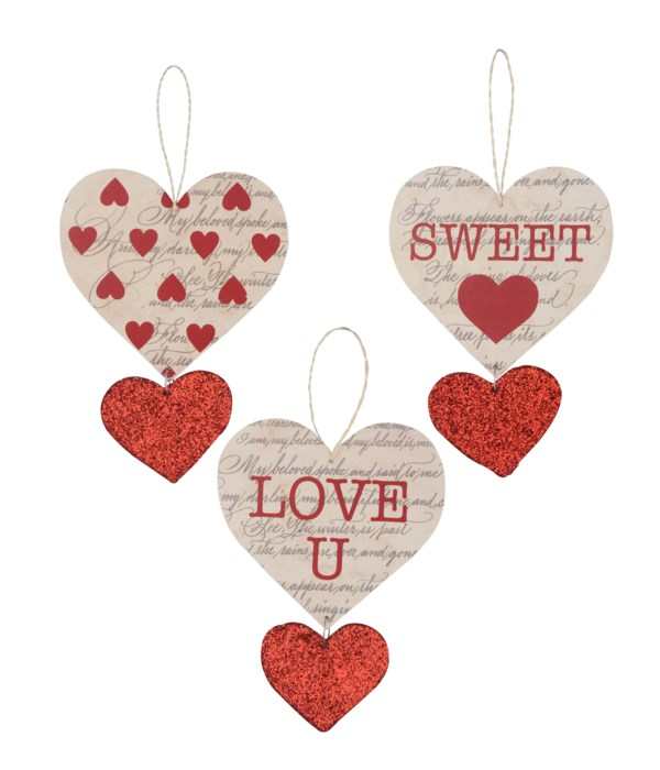 Love Letter Heart Ornament 3A