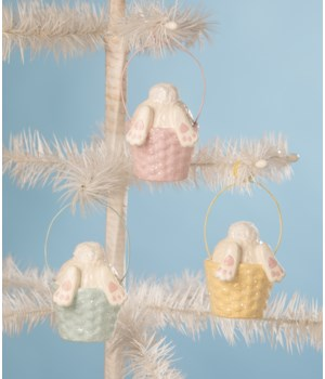 Bunny Tail Ornament & Place Card Holder 3/A
