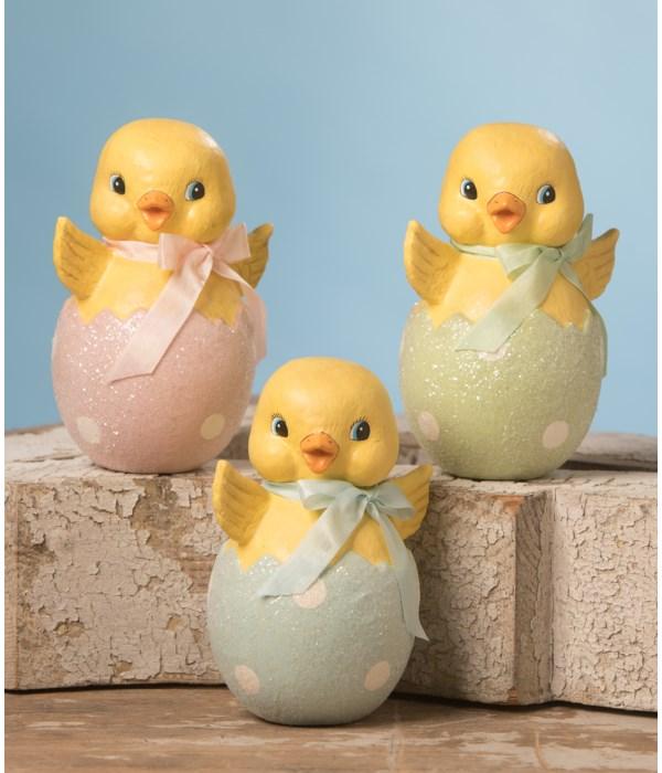 Chick in Egg Paper Mache 3A