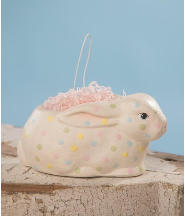 Polka Dot Bunny Bucket