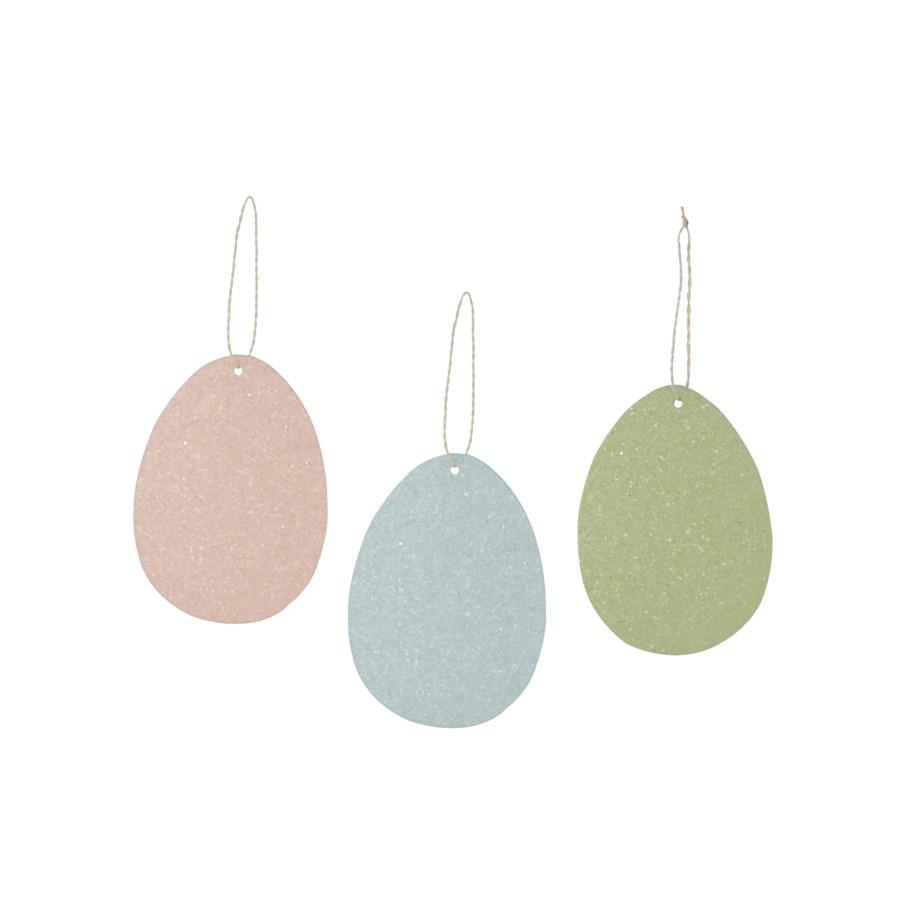 Confetti Pressed Paper Egg Ornament 3A