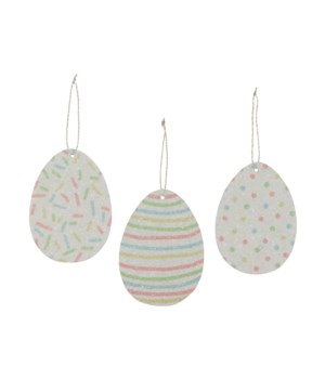 Confetti Pressed Paper Egg Ornament 3/A