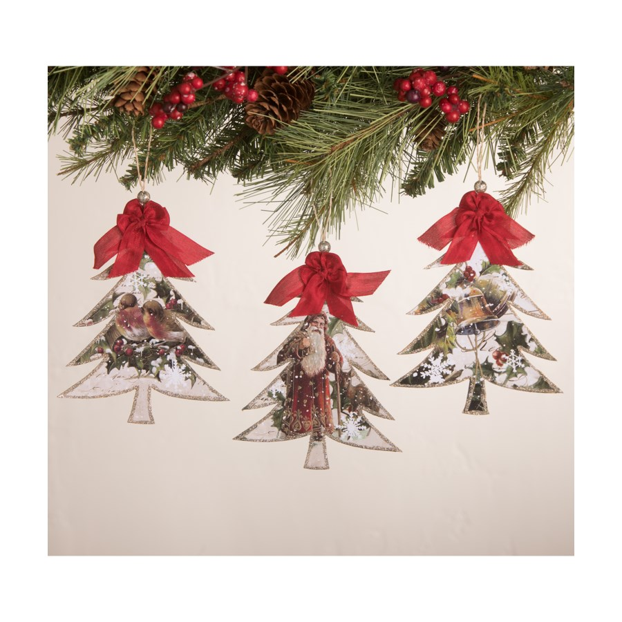 O' Tannenbaum Pressed Paper Tree Ornament 3A