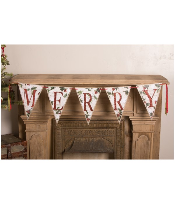 MERRY Holly Garland