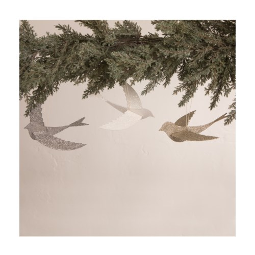 Peaceful Pressed Paper Bird Ornament 3A