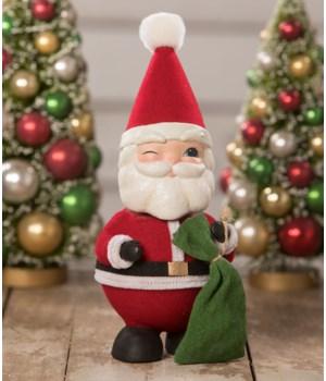 Bobble Head Santa Container
