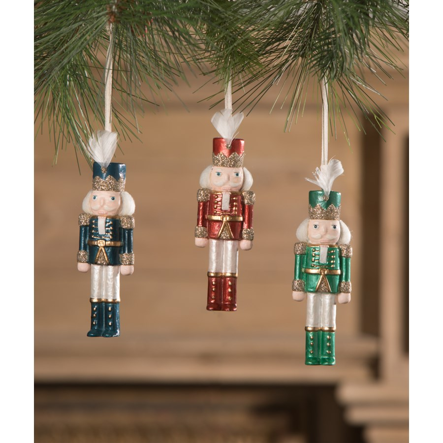 Jewel-Tide Nutcracker Ornament 3A