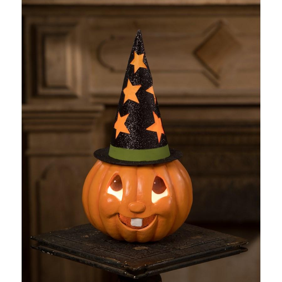 Retro Pumpkin Witch Container