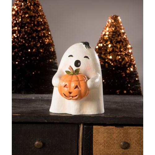 Ghost Gilbert with Pumpkin