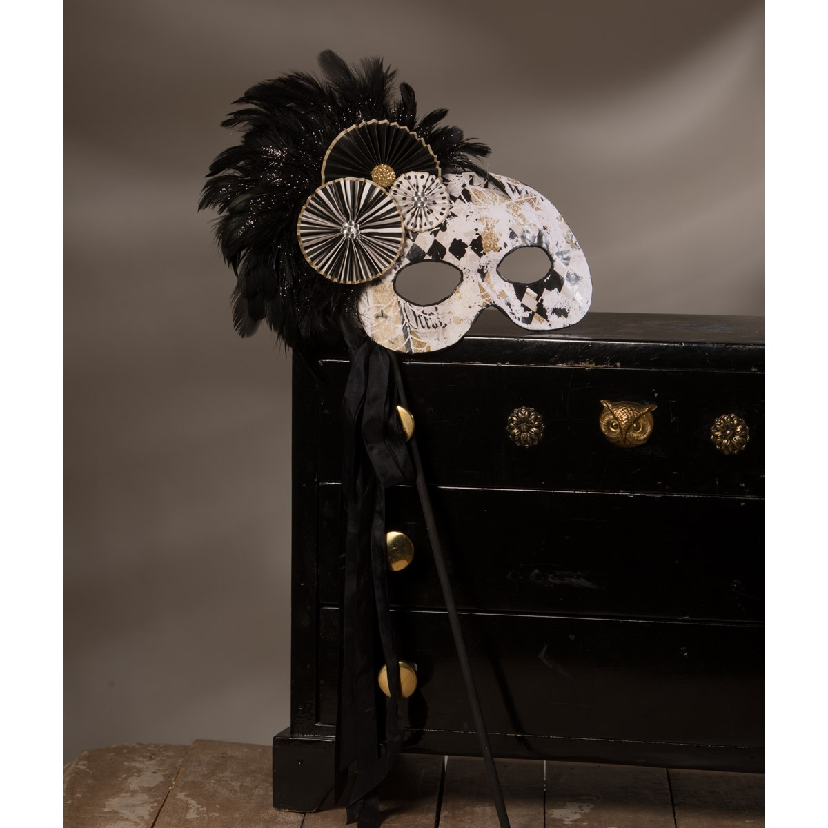 All Hallows' Eve Mask On Stick